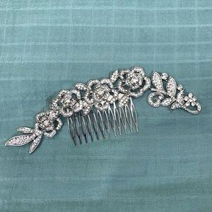 Faux Diamond Hair Piece Wedding Flowers